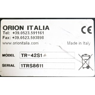 ORION ITALIA TR-42S1  Temperature control & Protection Relay (Gebraucht/Used)