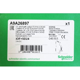 Schneider Electric Typ A9A26897  Oc and Fault Contact Ti24 for iC60 iID - Neu/OVP
