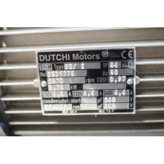 DUTCHI Motors 80/2 0,75 KW 2800rpm -Neu