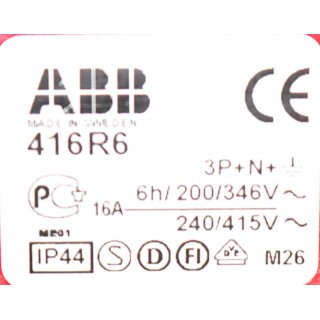 ABB 416RS6 2CMA193115R1000 Wandsteckdose